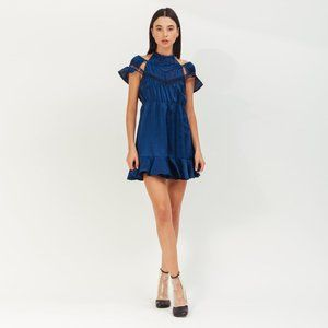 NEW Self-Portrait Arrow Trim Mini Dress SP19-105